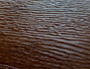 Woodgrain-embossed finish