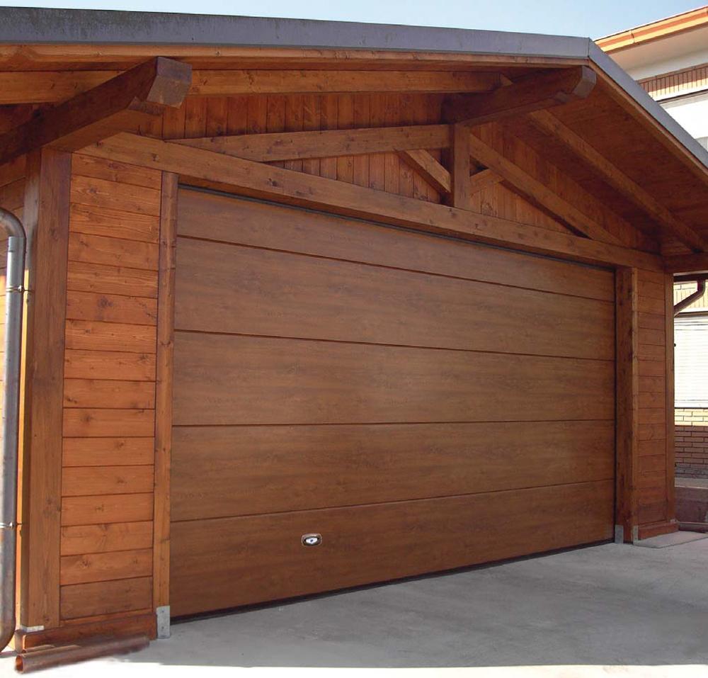 Master sectional door wood color